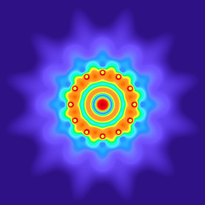 25 Hz - Equal Polarity Sound Pressure Mandala. (See photo gallery description for more details).