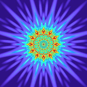 105 Hz - Equal Polarity Sound Pressure Mandala. (See photo gallery description for more details).