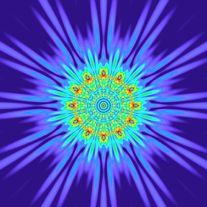 125 Hz - Equal Polarity Sound Pressure Mandala. (See photo gallery description for more details).