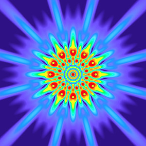 66.5 Hz - Equal Polarity Sound Pressure Mandala. (See photo gallery description for more details).