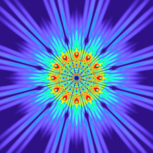 131 Hz - Alternating Polarity Sound Pressure Mandala. (See photo gallery description for more details).