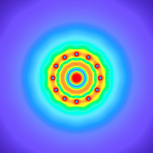20 Hz - Equal Polarity Sound Pressure Mandala. (See photo gallery description for more details).