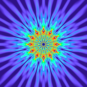 125 Hz - Alternating Polarity Sound Pressure Mandala. (See photo gallery description for more details).