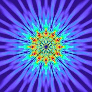 125 Hz - Alternating Polarity Sound Pressure Mandala. (See photo gallery description for more details).