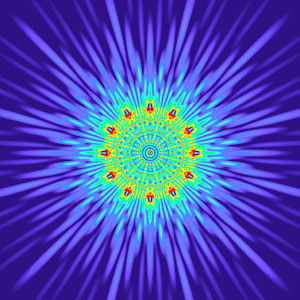 160 Hz - Equal Polarity Sound Pressure Mandala. (See photo gallery description for more details).