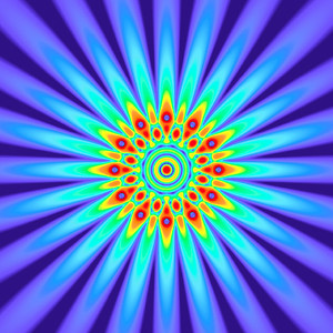 56 Hz - Equal Polarity Sound Pressure Mandala. (See photo gallery description for more details).