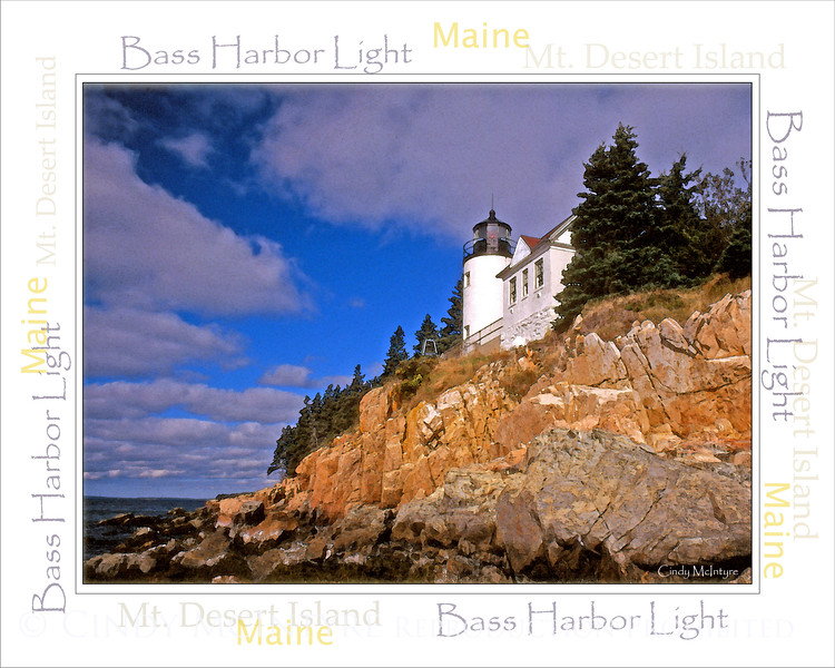 Bass Harbor Light WordArt