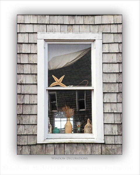 Monhegan Window Decorations WC