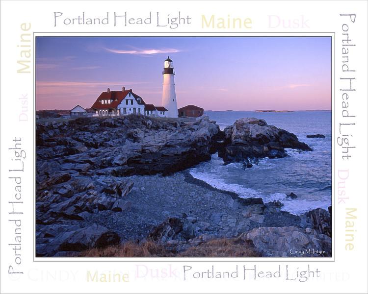 Portland Head Dusk WordArt