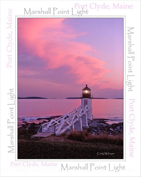 Marshall Point V Sunset WordArt