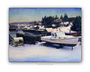 port clyde maine, maine winter, lobster boat