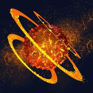 Fire Ring Planet