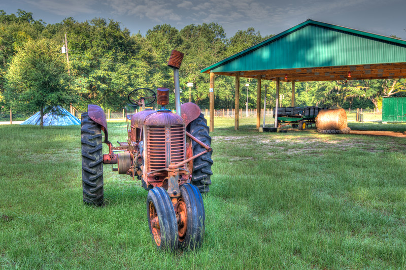 Antique Case Tractor in HDR