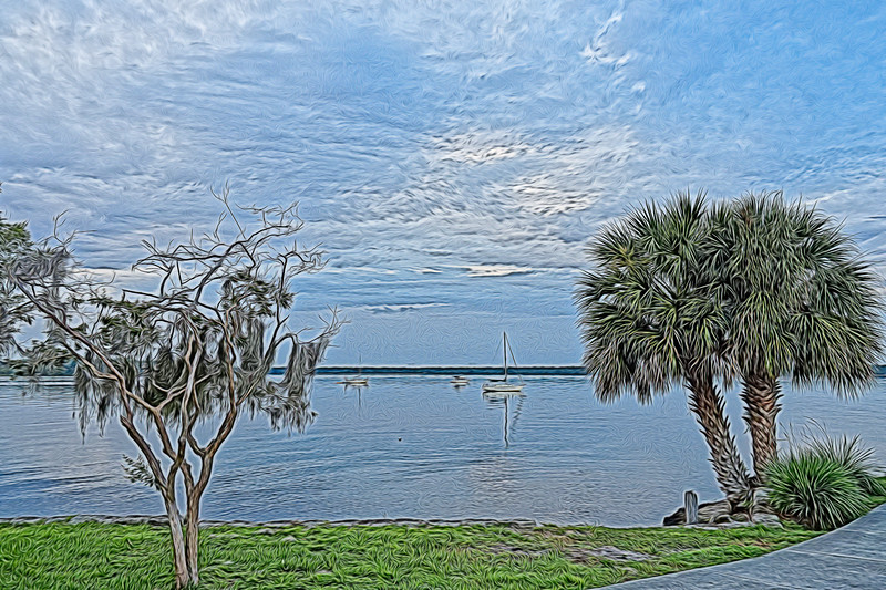 St Johns River as seen from Palatka, Florida