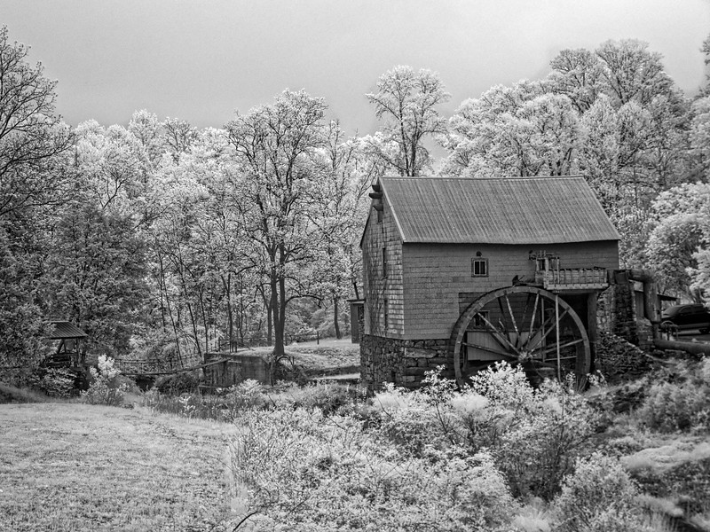 Old Mill of Guilford in Monochrome