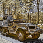 World War II Army Halftrack at Camp Blanding