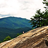 Original photo of girl on Looking Glass Rock