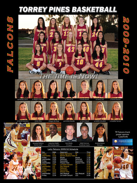 TPHS Girls varsity basketball 2010