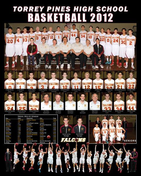 TPHS boys v7 basketball poster2012 16x20
