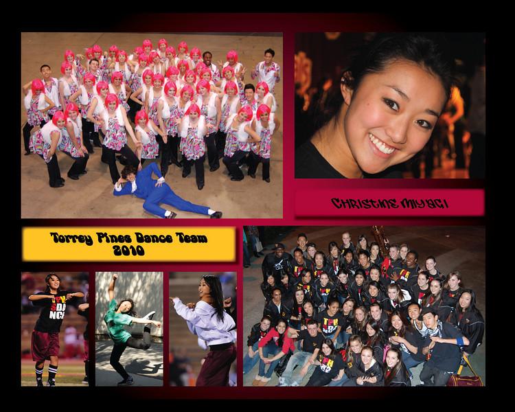 senior poster, dance team