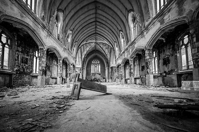 St. Anges ,Detroit, church ,urban decay,ruins, abandon,