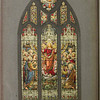 "Notation: LC: ""Design for Central Sanctuary Window St. Johns Church Boulder Colorado.""<br /> Reverse: F. G. Wiedman Stained Glass Studio 190-44 99th Ave., Hollis, N.Y. Tel HOllis-5-1653""<br /> OA: 21 7/8"" X 12 1/4"". Image: 14 1/4"" X 7 3/4"". edit"