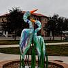 Crane Statues