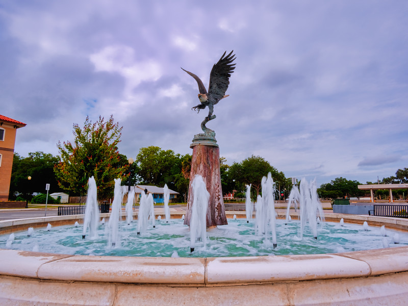 Eagle above Fountain