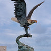 Eagle above Fountain