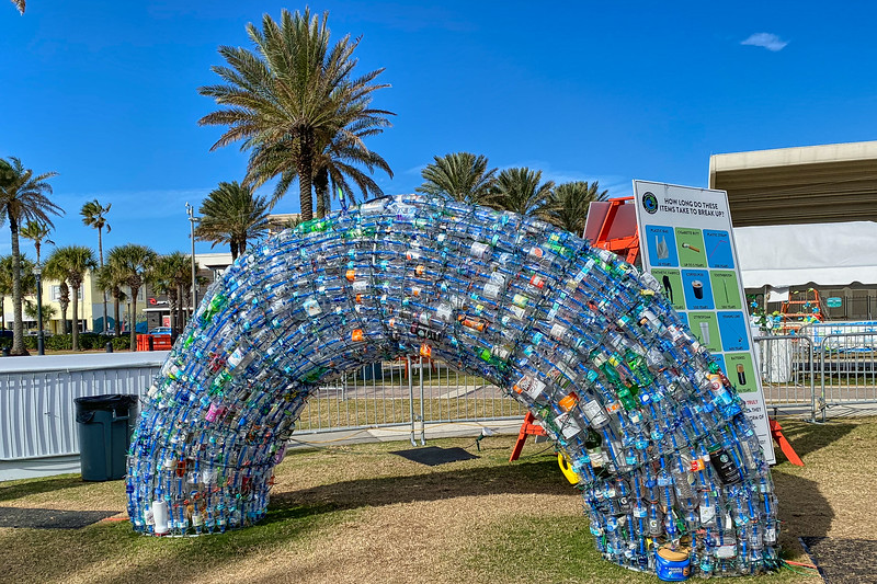 Beaches Go Green Octopus Garden all made from single-use plastic bottles