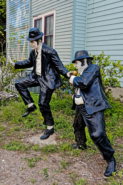 Jake and Elwood Blues Statues