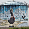 Pelican Mural on Wilmington Storage Tank