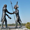 Lewis and Clark Statue in Clarksville Indiana