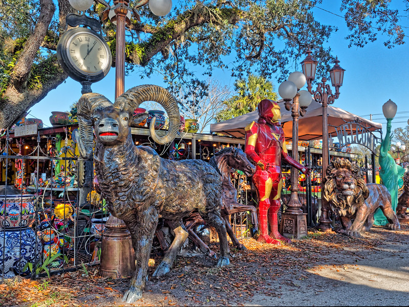 Rams, Robots, and Lions at Barberville Roadside