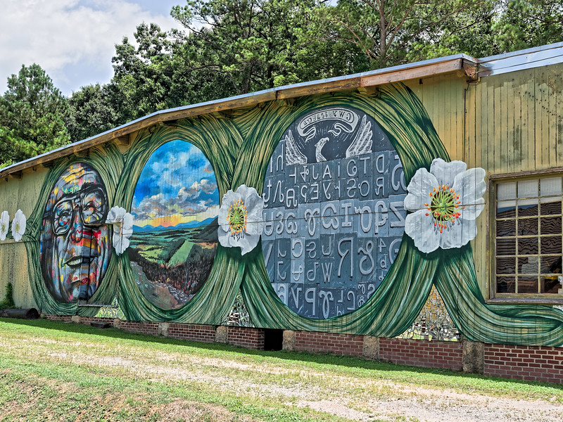 Erik Burke Mural in Summerville Georgia