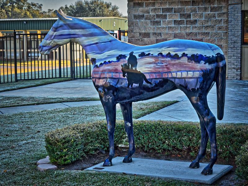 """Morning Colors"" Ocala, Florida, Horse Fever statue"