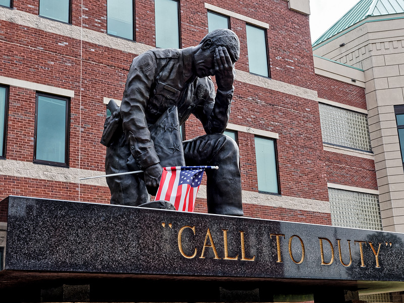 Rome's Call To Duty Statue