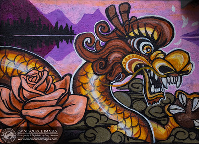 Oakland Chinatown Dragon Mural