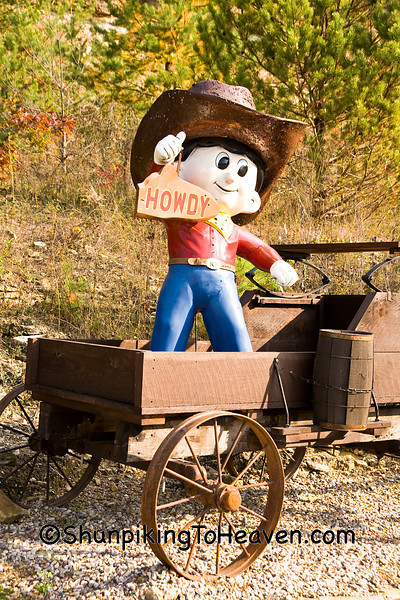 """Howdy Cowboy"" Statue in Wagon, Richland County, Wisconsin"