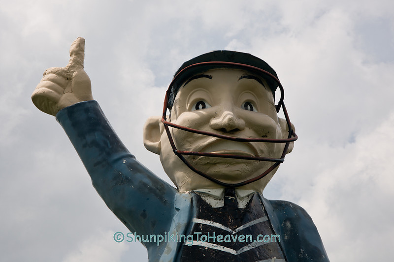 You're Out!  Umpire Statue, Delaware County, Iowa