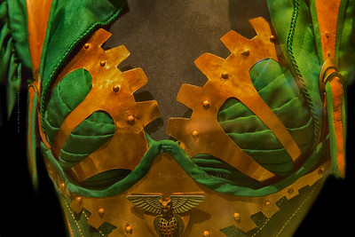 Steampunk breast plate_dress Hr 7576