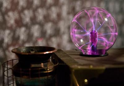 Steampunk pink bulb 2761