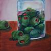 """Olives in a jar"".  oleo."