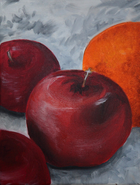 """Apples and orange"". oleo."