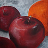 """Apples and orange"". oleo."
