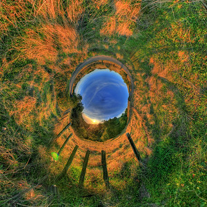 Fort Ross Sunset Inverse Stereographic