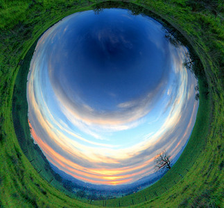 Inverse Stereographic Sunset