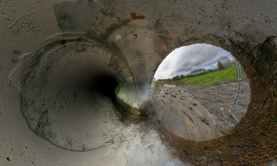 Inverse Stereographic Tunnel