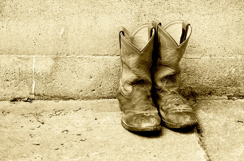 Cowboy Boots in Sepia