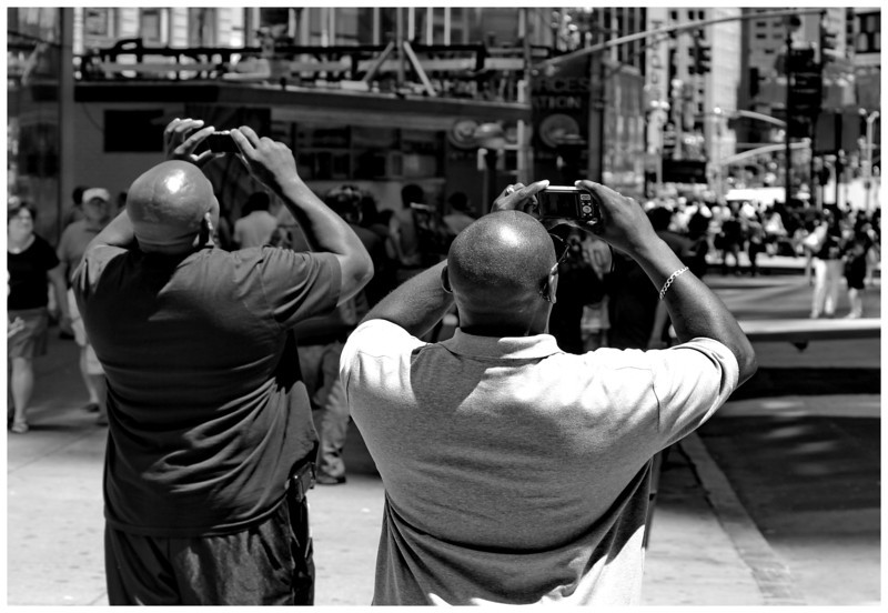 Big Guys Small Cameras - Time Square NYC